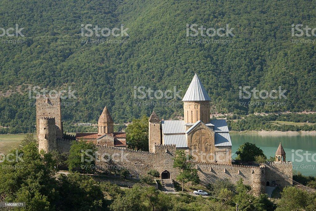 Ananuri Castle royalty-free stock photo