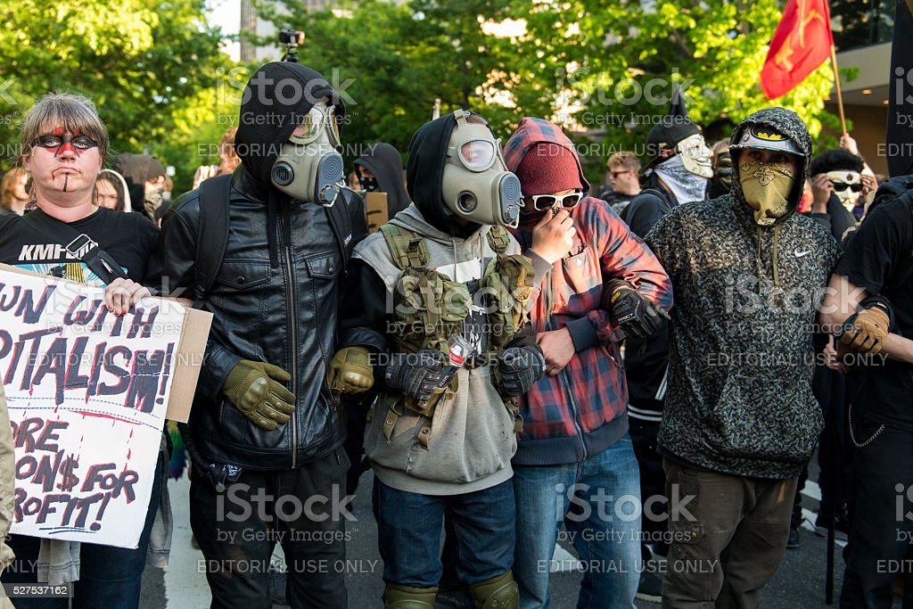 Anarchists stock photo