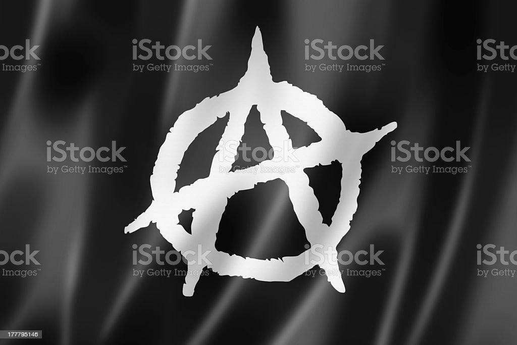 Anarchy flag stock photo