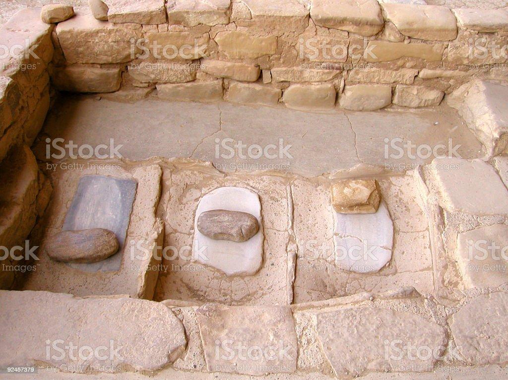 Anasazi Grinding Stones royalty-free stock photo