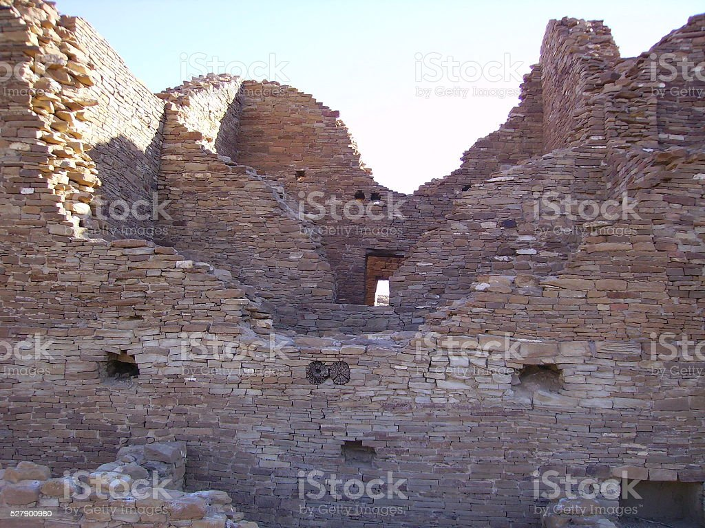 Anasazi Indian Ruin stock photo