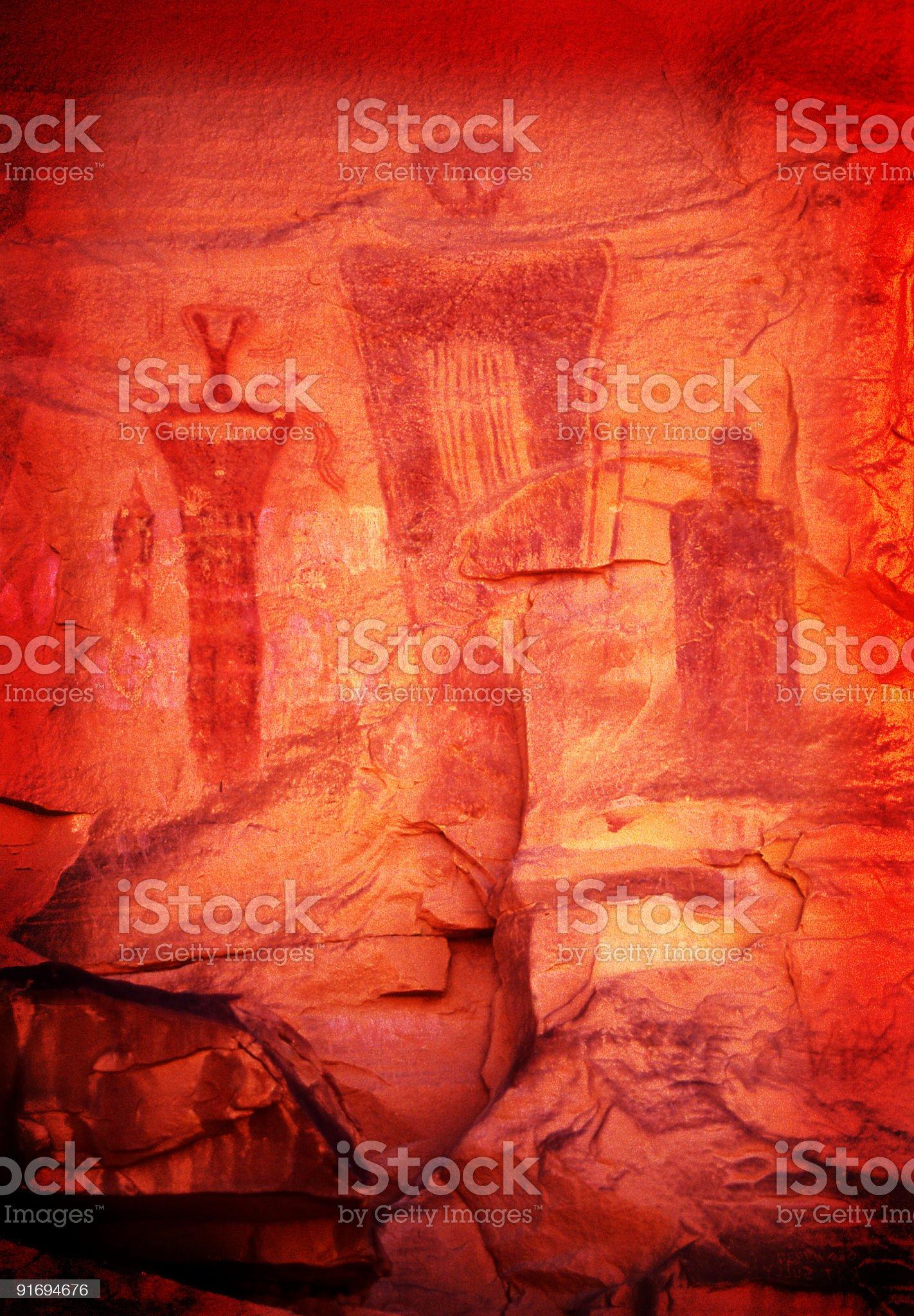 Anasazi Petroglyph royalty-free stock photo