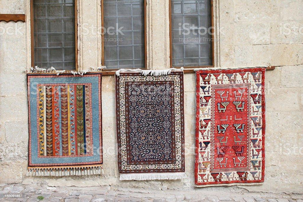 anatolian carpets stock photo