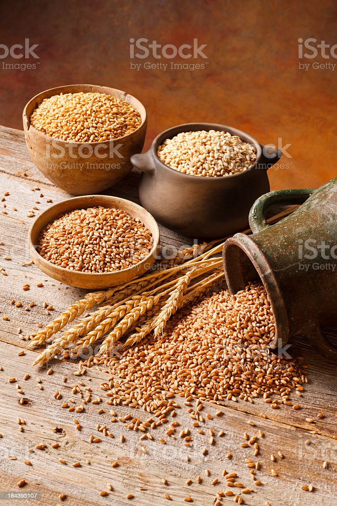 Anatolian wheats stock photo