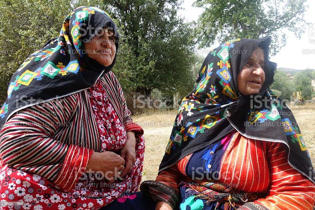 Anatolian women in Sivas stock photo