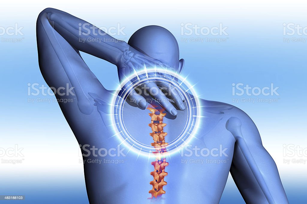 anatomical vision back pain stock photo