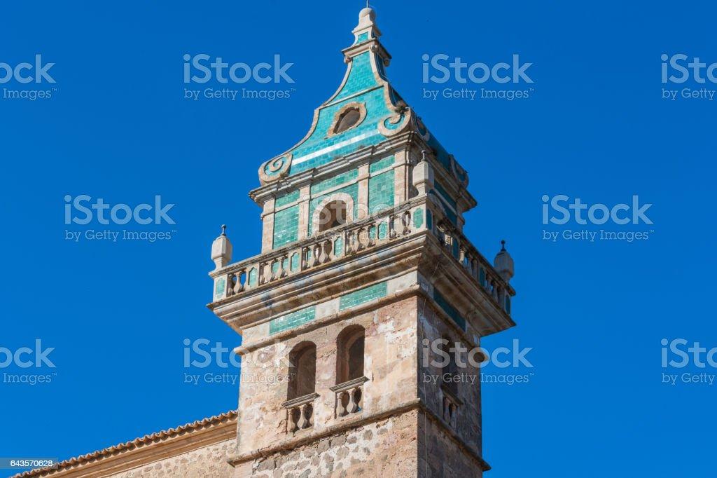 Anblick der Klosterkartause von Valldemossa auf Mallorca, Spanien stock photo