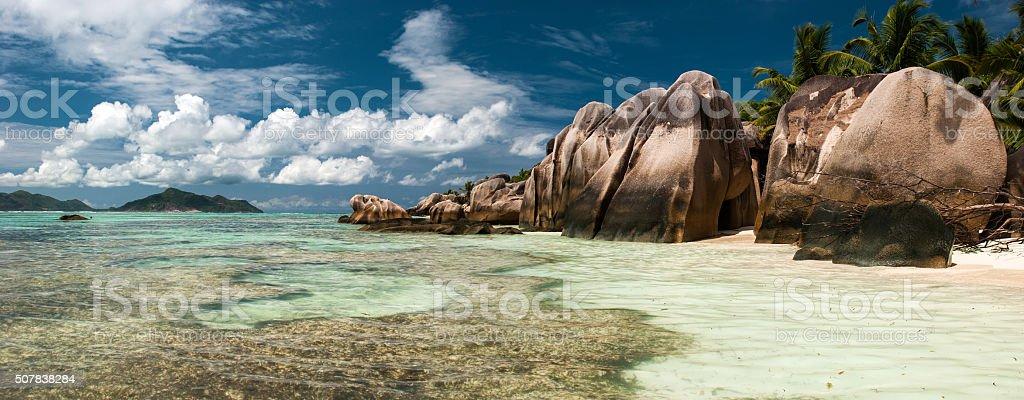 Ance Source D'Argent beach, La Digue stock photo