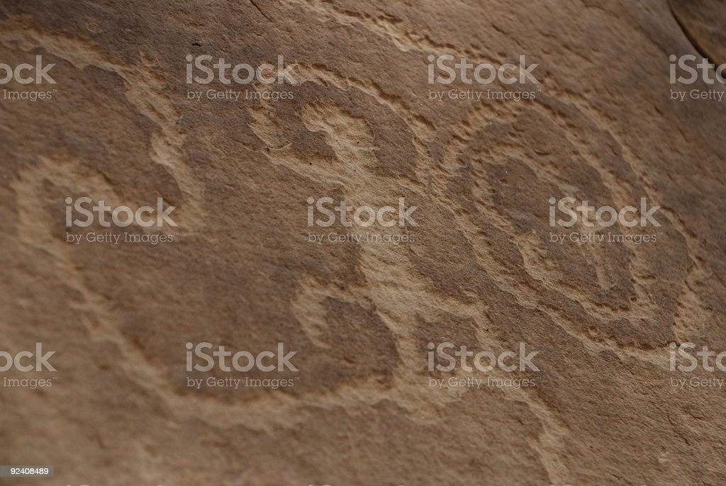 Ancestral Puebloans (Anasazi) Petroglyphs - Cave Paintings royalty-free stock photo