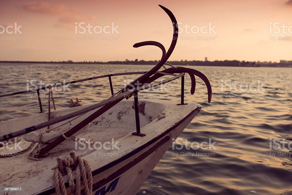 anchor an boat stock photo