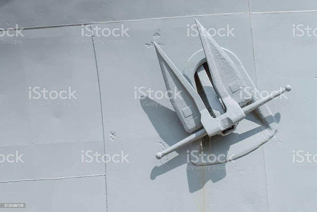 anchor  battleship stock photo