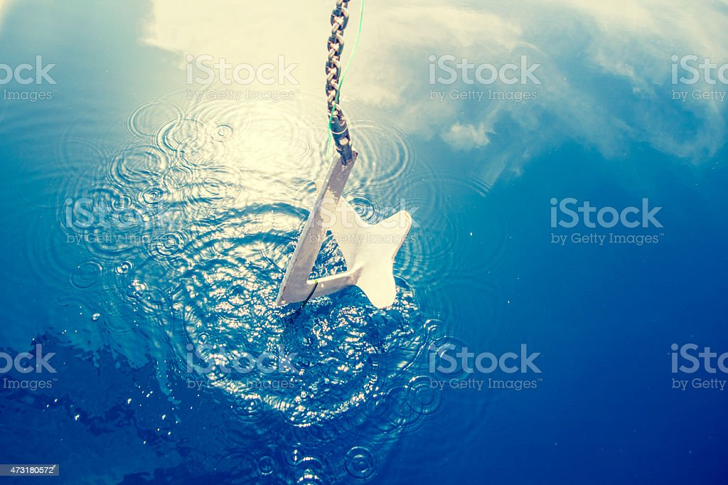Anchor boat stock photo