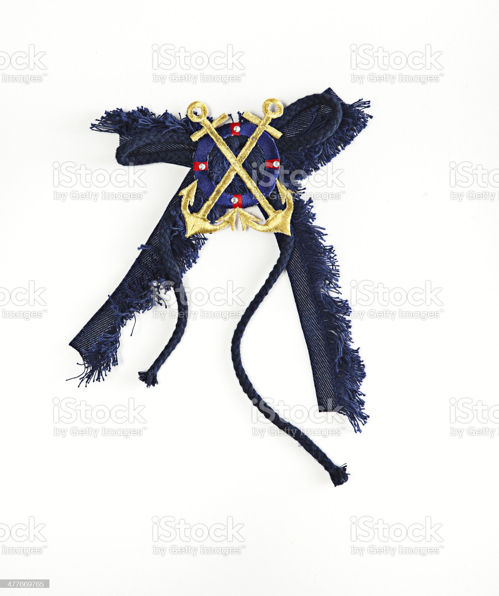 anchor brooch royalty-free stock photo