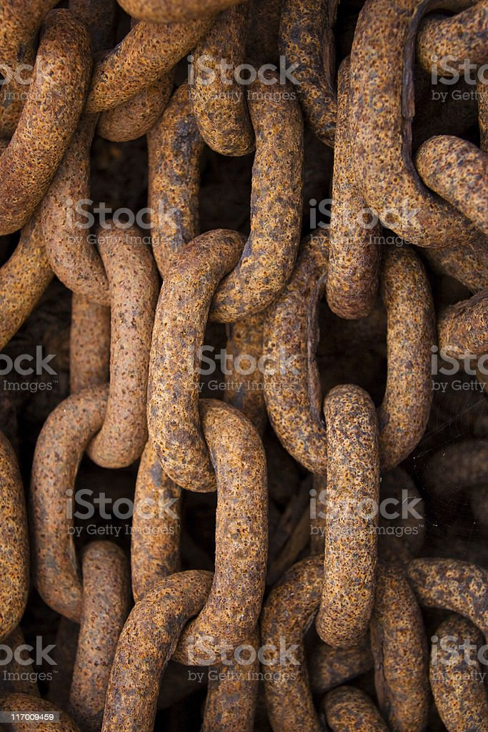 Anchor cable stock photo