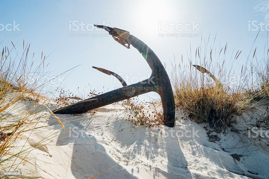 Anchor cemetery royalty-free stock photo