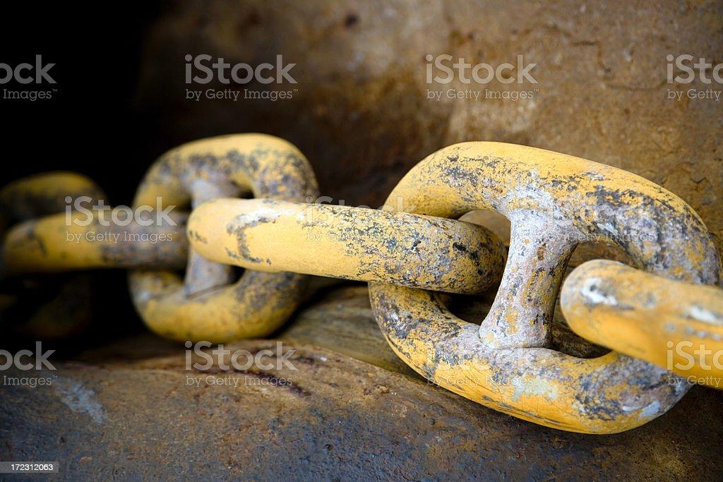 Anchor Chain Detail stock photo
