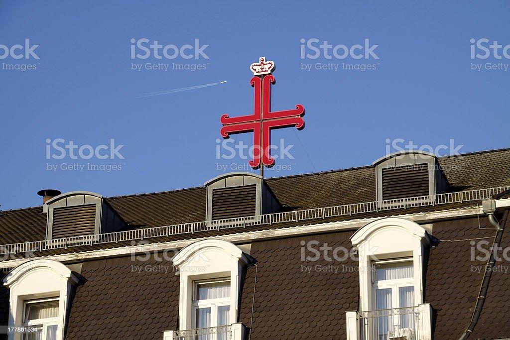 Anchor Cross Bad Pyrmont royalty-free stock photo
