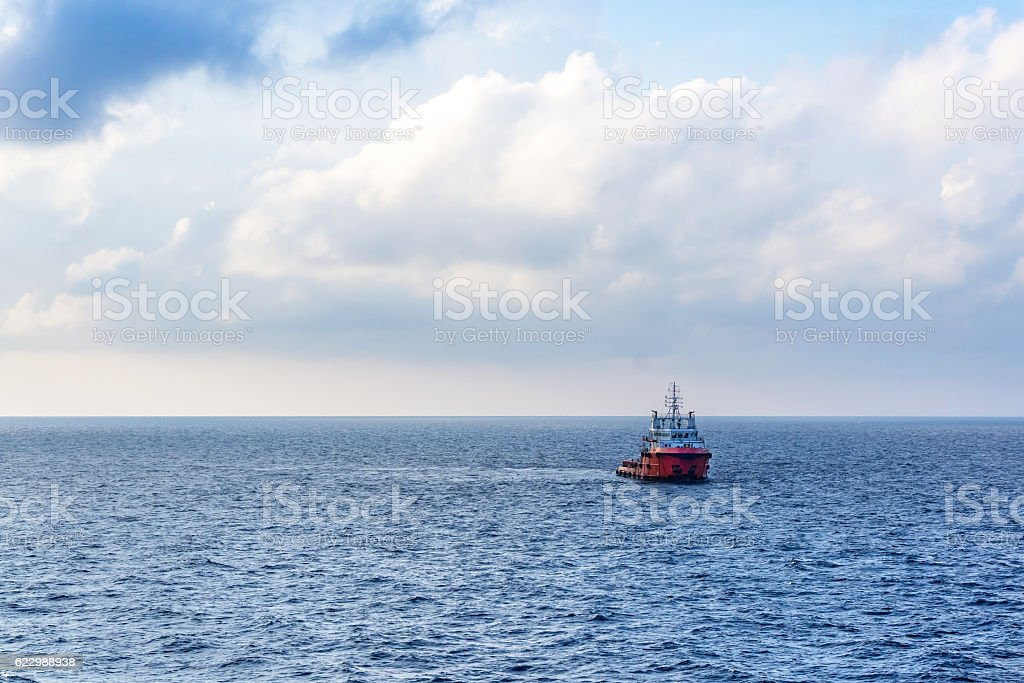 Anchor Handling Tug stock photo