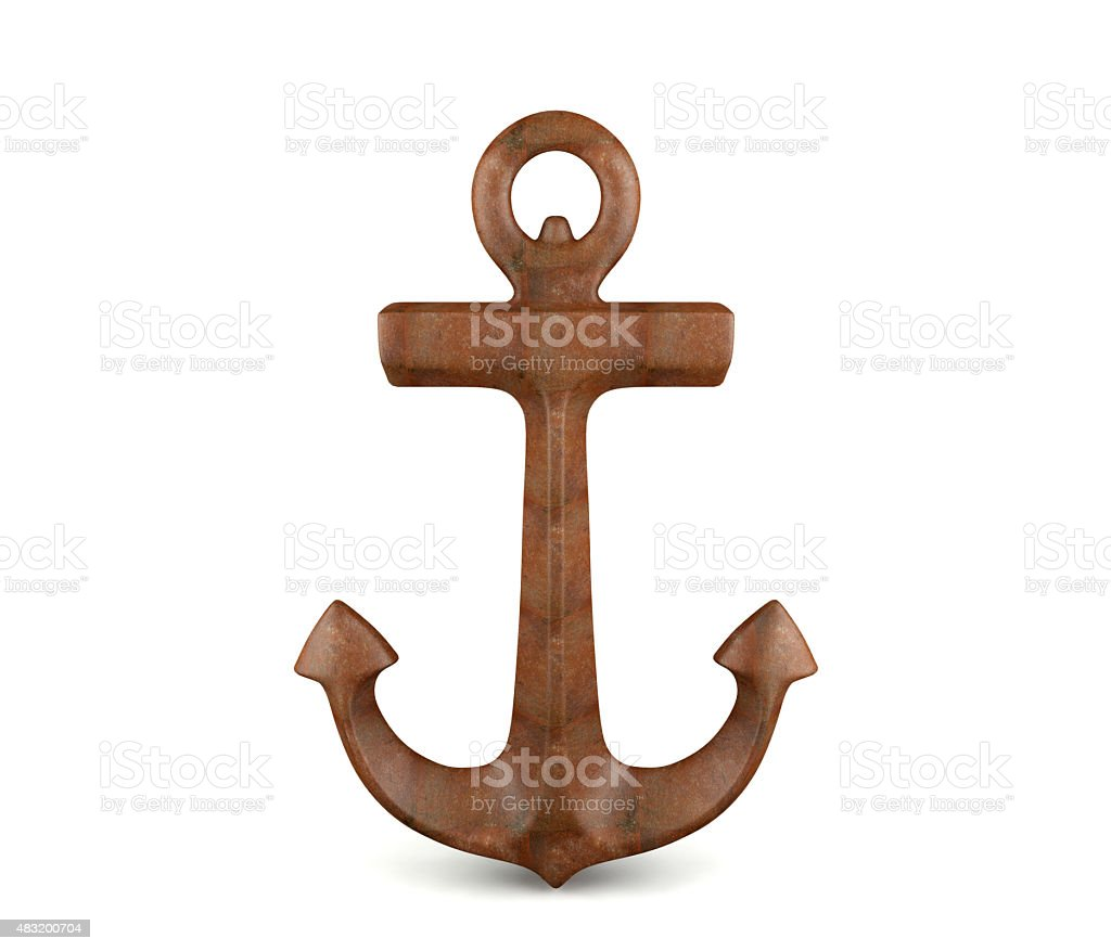 Anchor isolated on white background stock photo