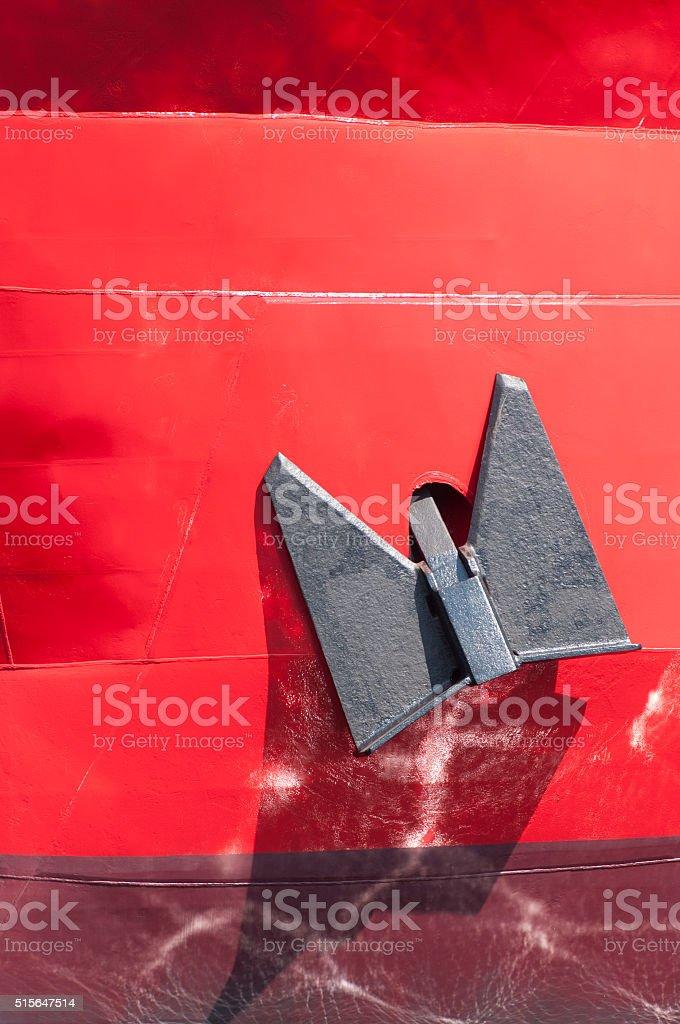 Anchor of a ship stock photo