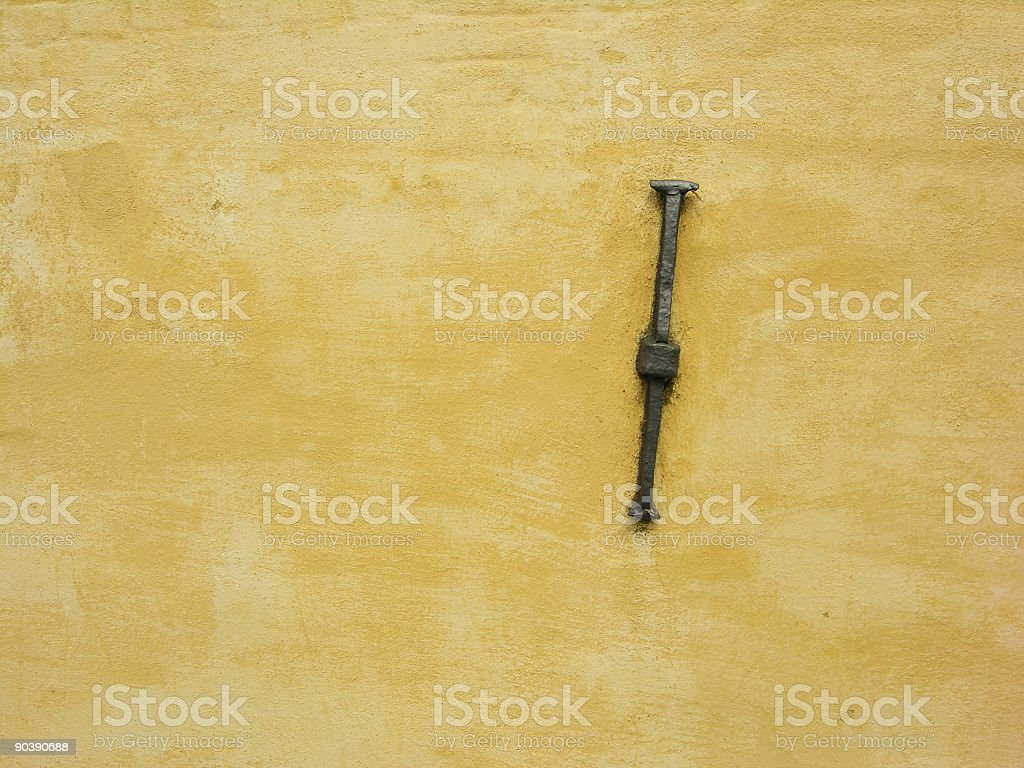 Anchor on Wall royalty-free stock photo