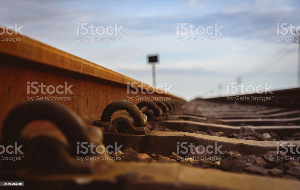 Anchor rail equipment. Selective focus stock photo