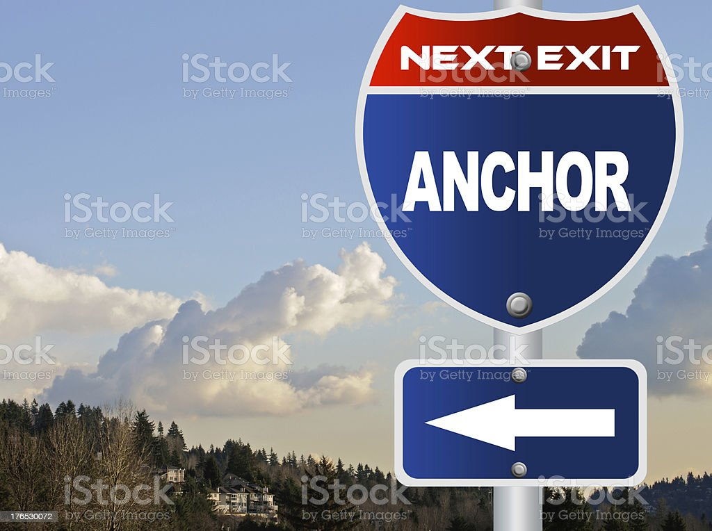 Anchor road sign royalty-free stock photo