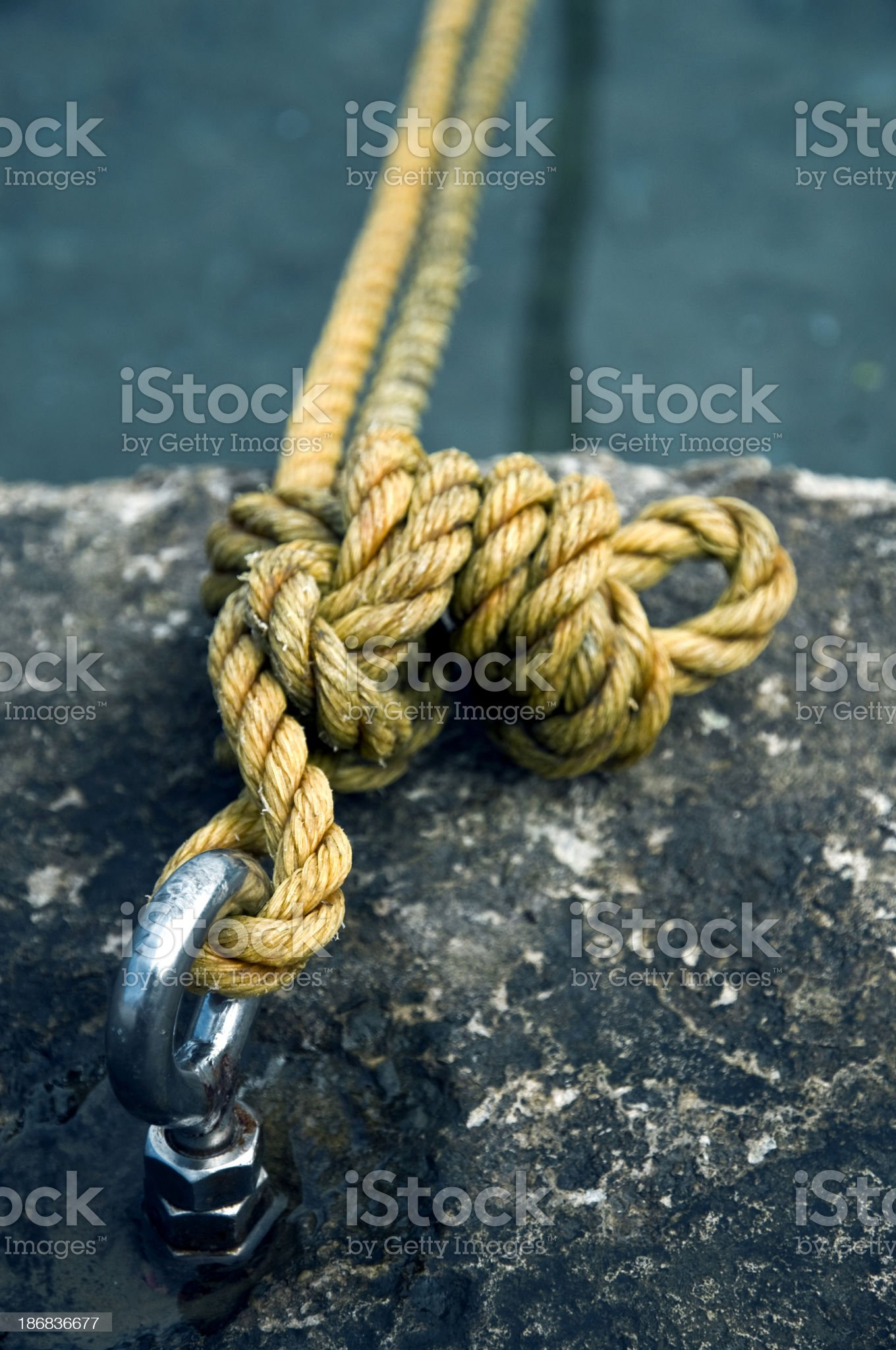 Anchor rope royalty-free stock photo