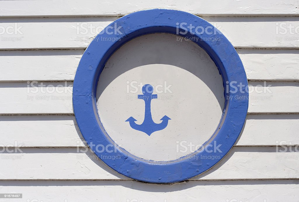 anchor sign royalty-free stock photo