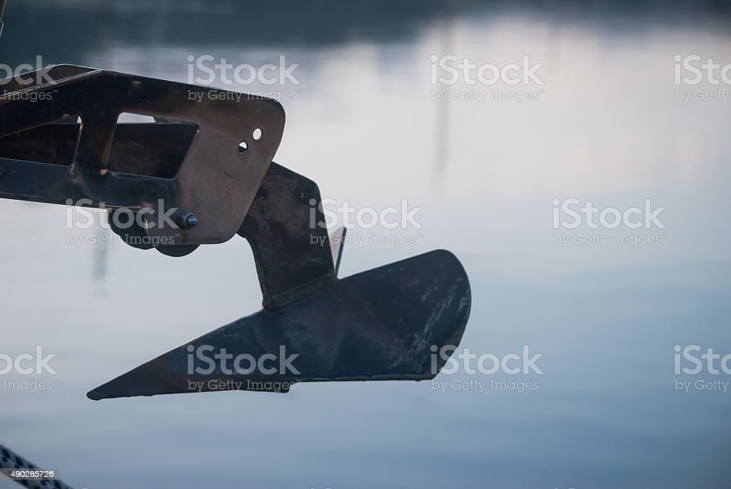anchor vessel part close up stock photo