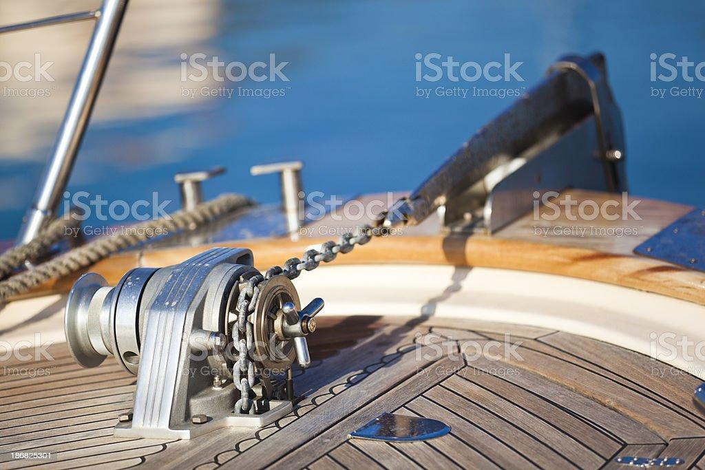anchor winch stock photo