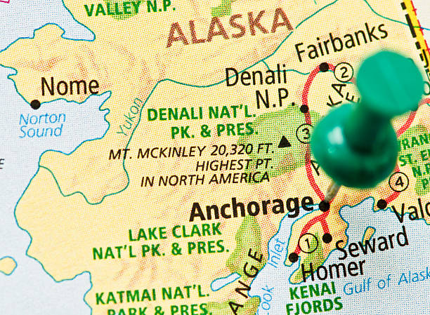 Alaska map pictures images and stock photos istock for Fishing jobs in alaska