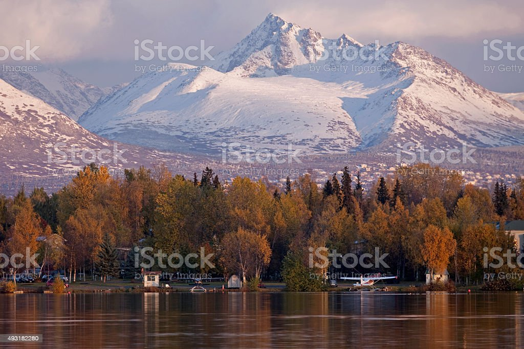 Anchorage Autumn stock photo