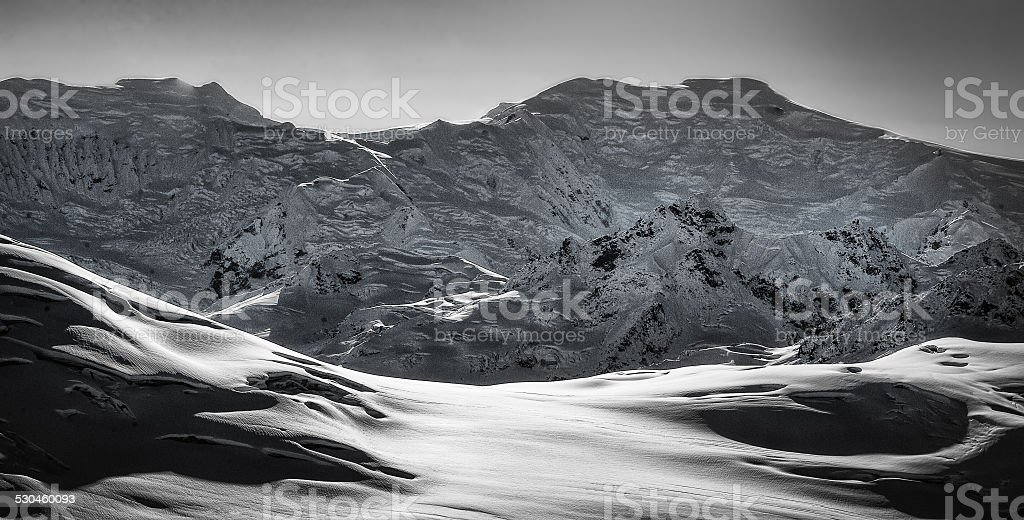 Anchorage Mountain Range stock photo