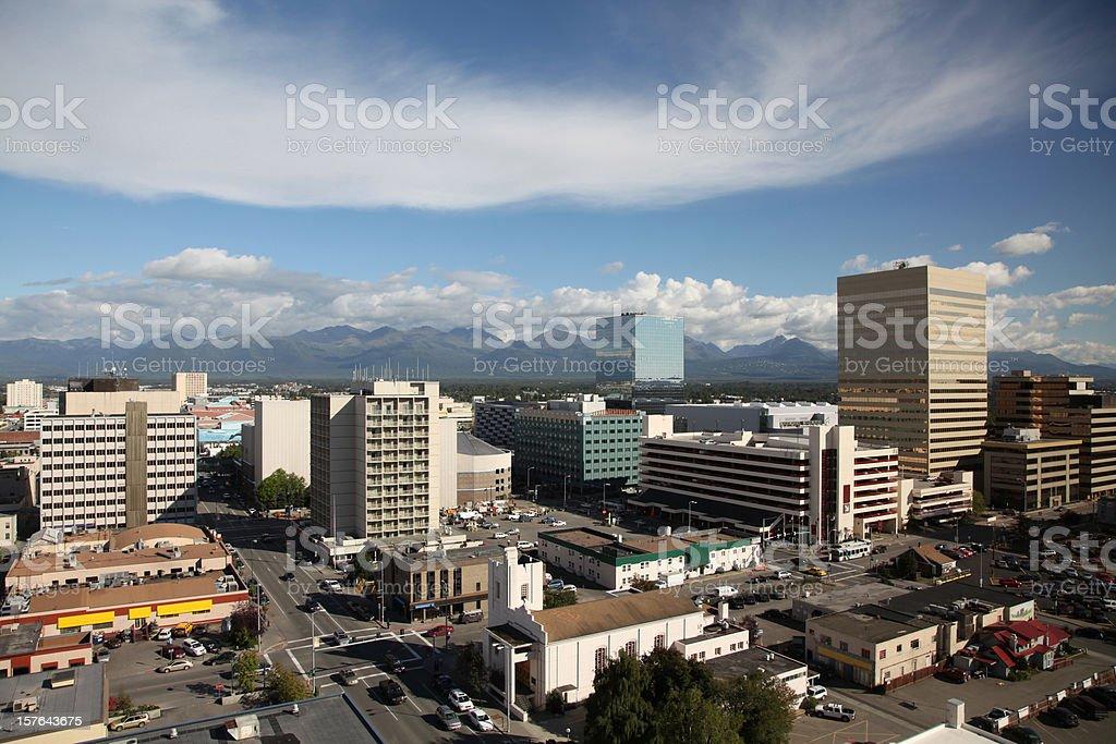 Anchorage Skyline stock photo