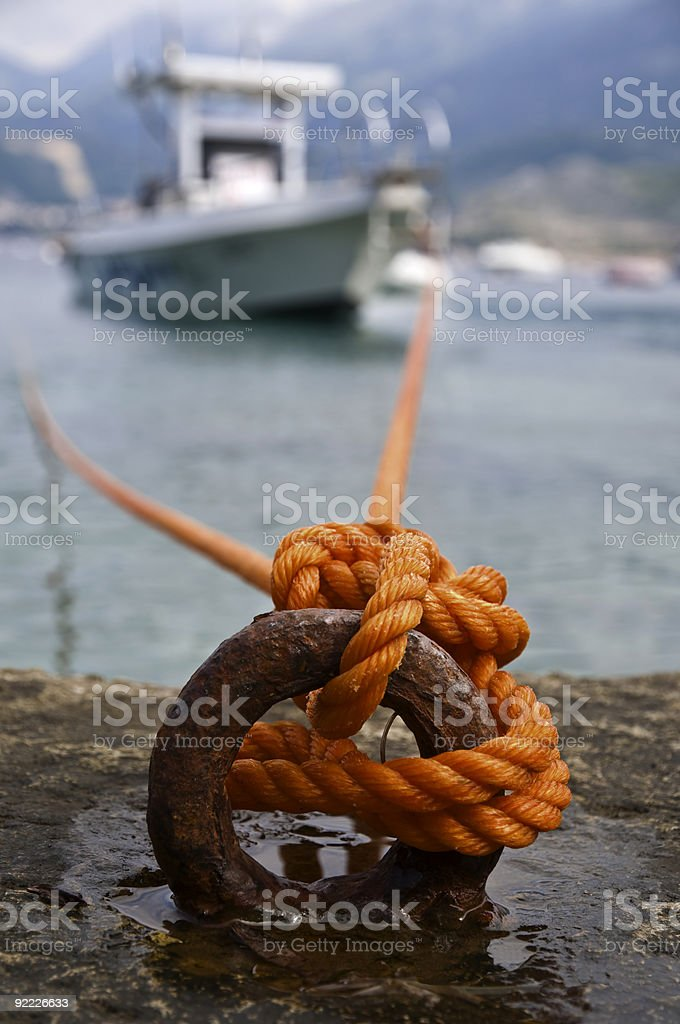 Anchored boat royalty-free stock photo