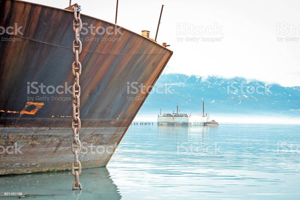 Anchored in Alaska stock photo