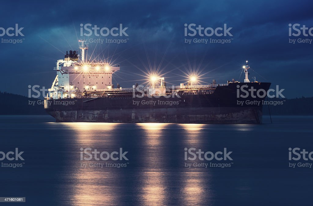 Anchored in Harbour royalty-free stock photo