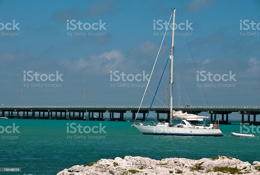 Anchored in the Keys stock photo