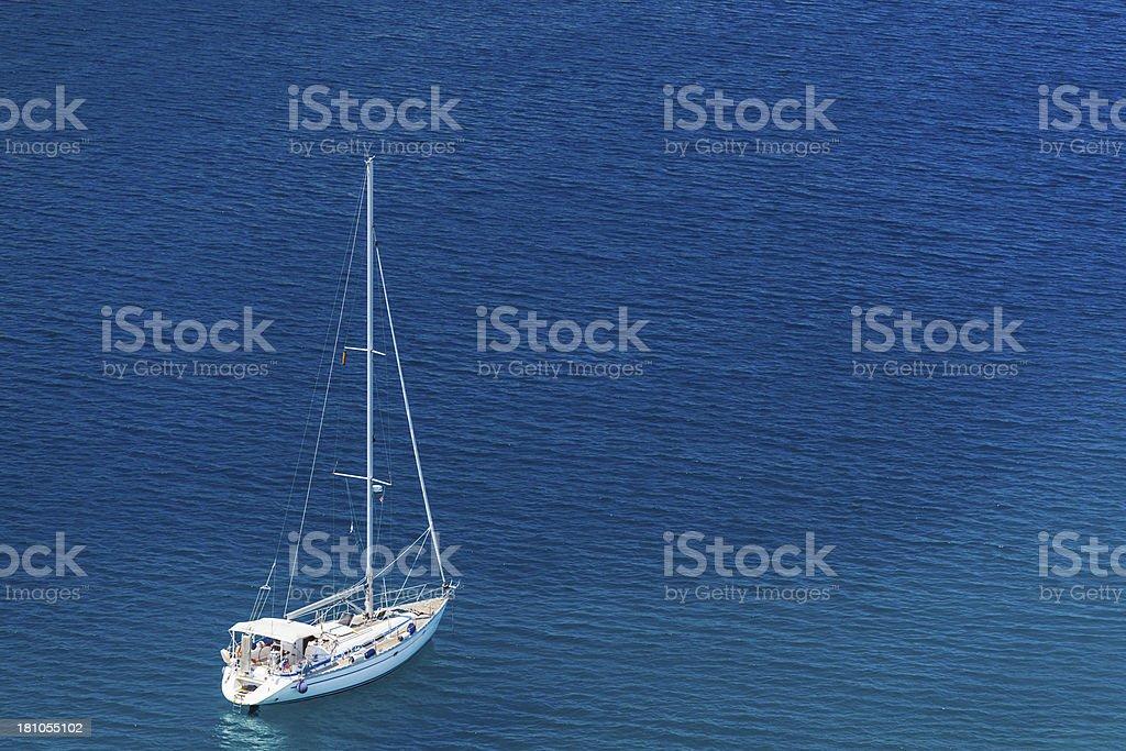 anchored yacht royalty-free stock photo