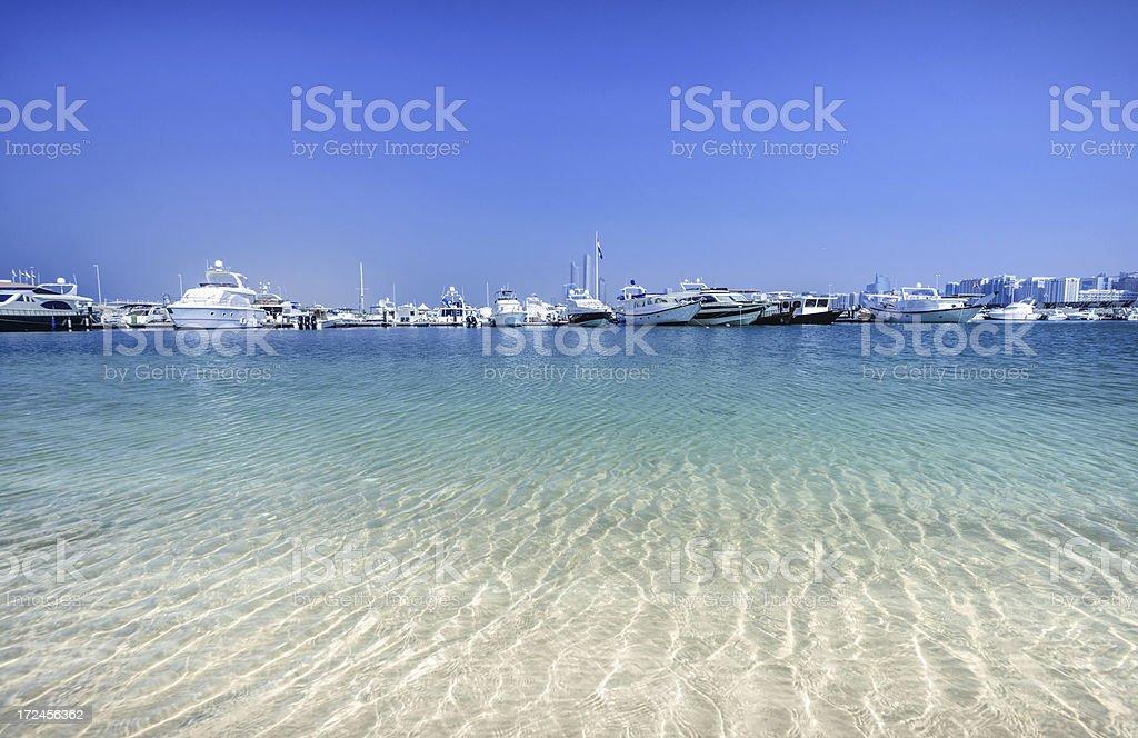 Anchoring in Abu Dhabi royalty-free stock photo