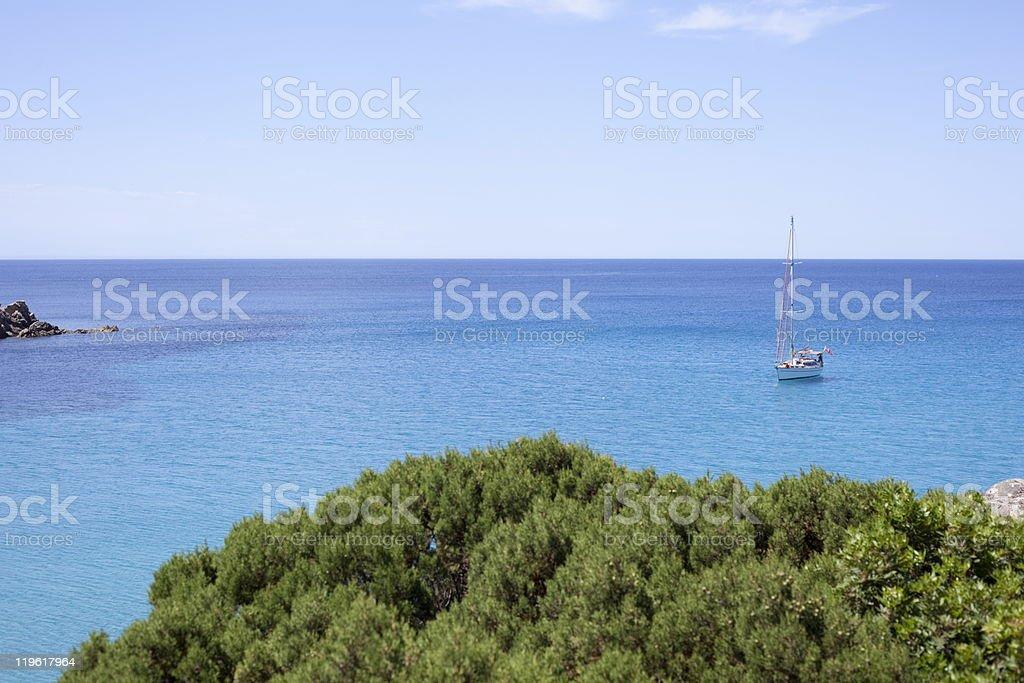 Anchoring. royalty-free stock photo