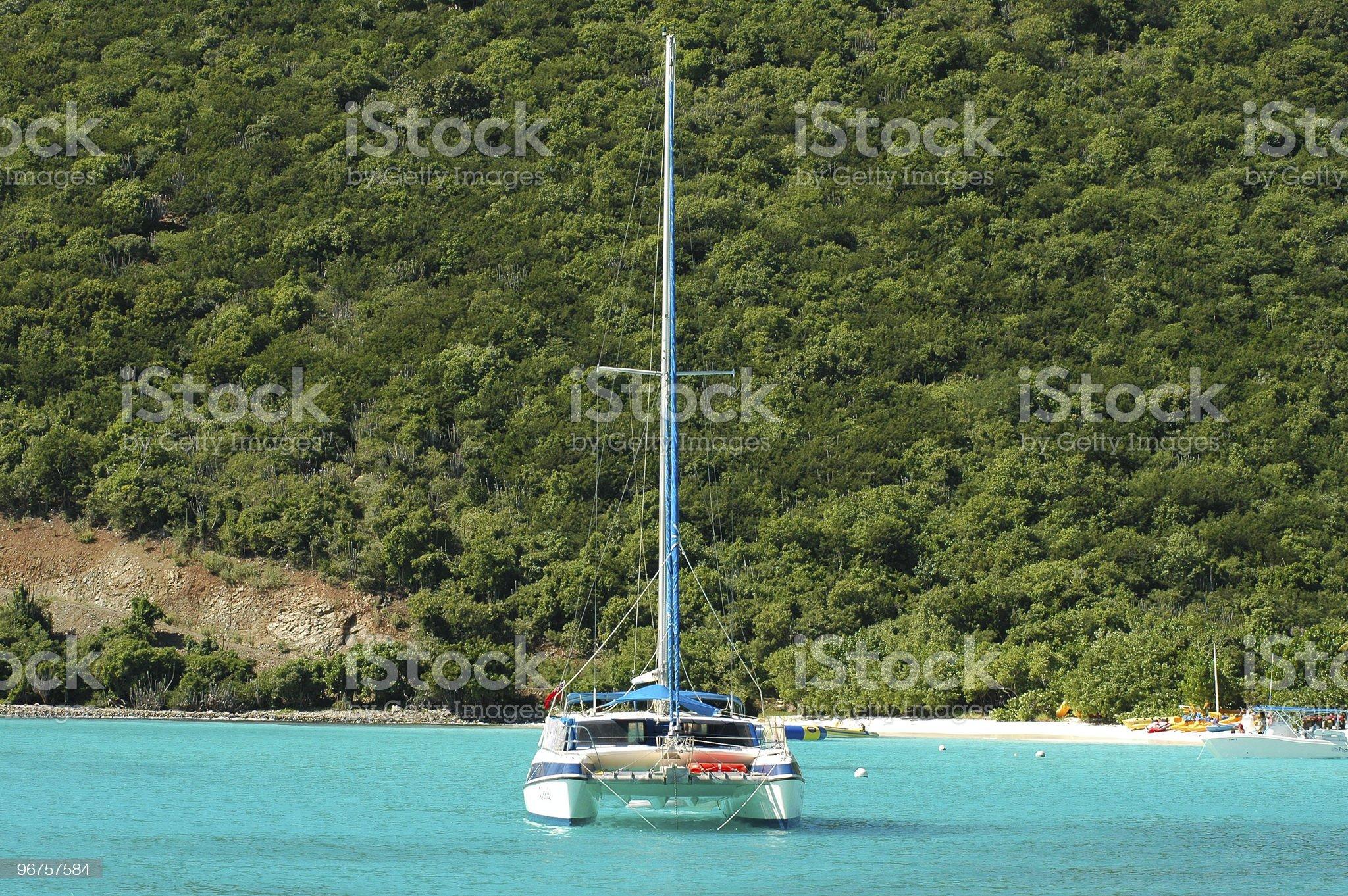 Anchoring royalty-free stock photo