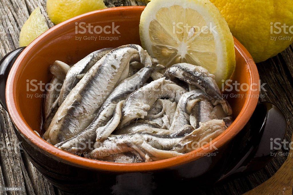 anchovies royalty-free stock photo
