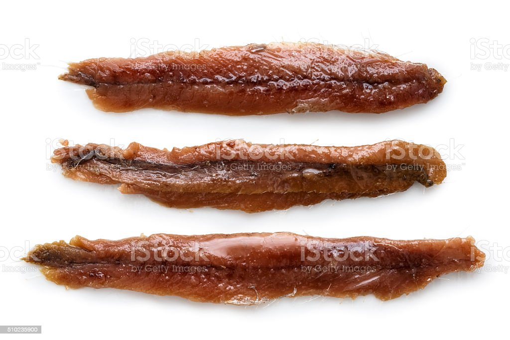 Anchovy fillets. stock photo