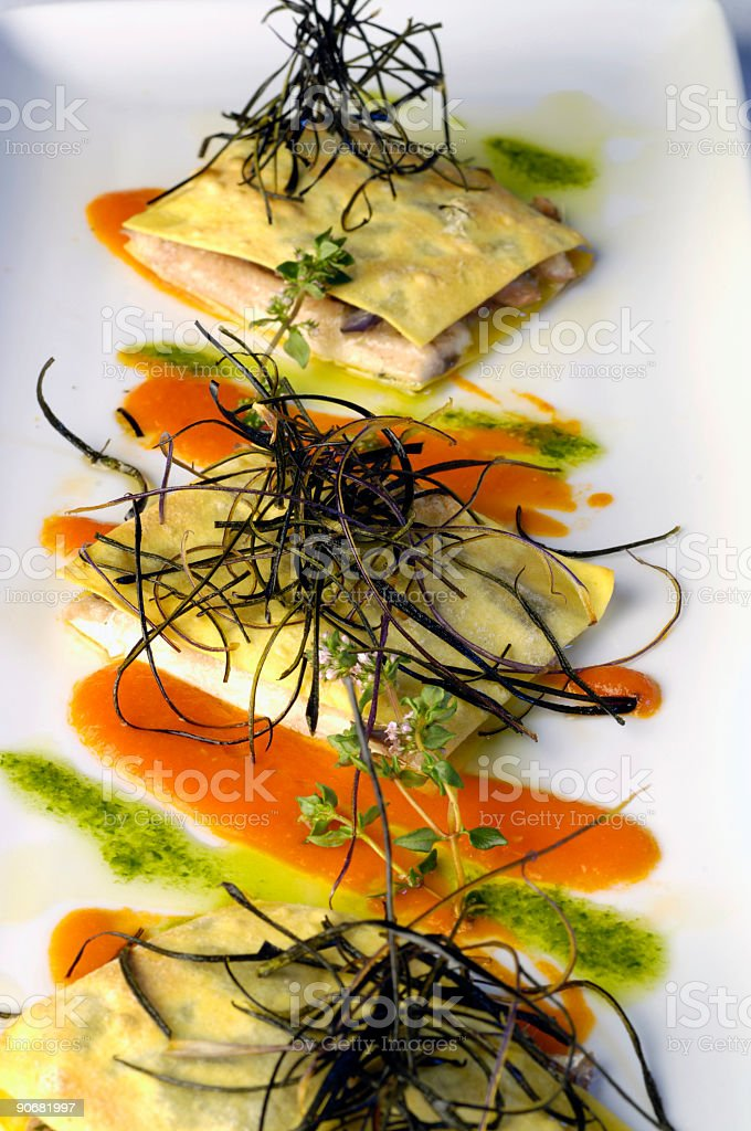 Anchovy lasagne III royalty-free stock photo
