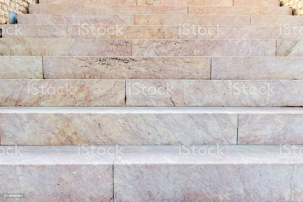 ancien marble stairs stock photo