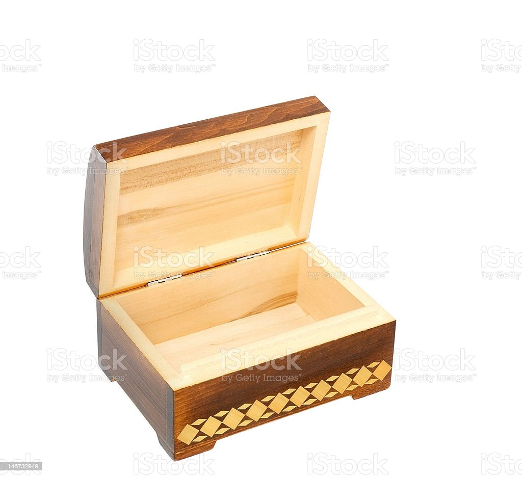 anciend old casket stock photo