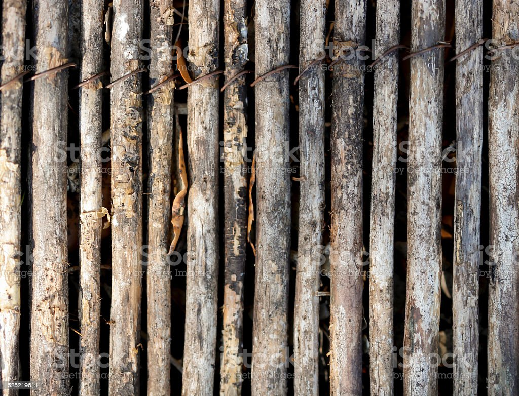 Ancienne canisse en bambou stock photo