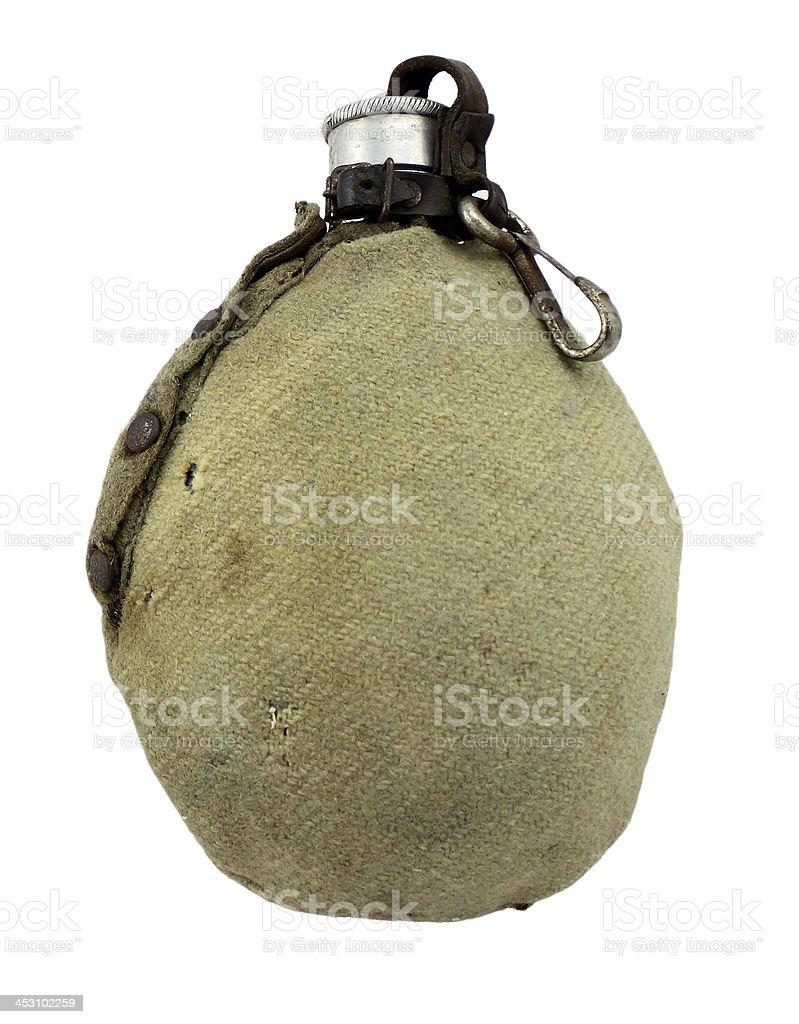 Ancienne gourde du soldat allemand stock photo